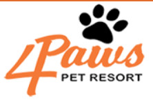 4 Paws Pet Resort Inc. logo