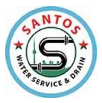 Santos Plumbing Service logo