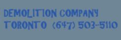 Demolition Company Toronto logo